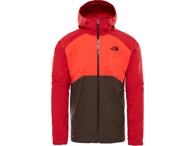 The North Face Stratos Chaqueta Hombre, bittersweet brown/fiery red/rage red